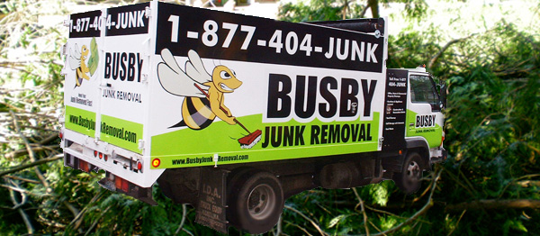 Yard Waste and junk removal truck